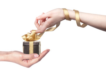 taking a gift concept isolated