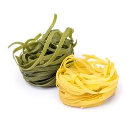 Yellow and Green Tagliatelle