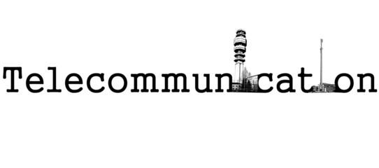 Scritta telecomunicazioni