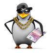 Penguin rapper has a was of Euros