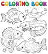 Coloring book freshwater fishes 1