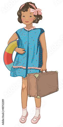Vintage bon voyage character