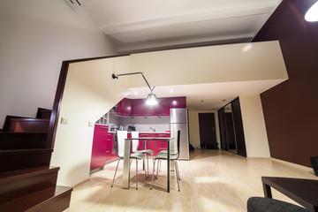 Inside modern loft