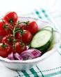 Salad ingredients in a bowl