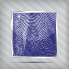 finger print icon on the striped background