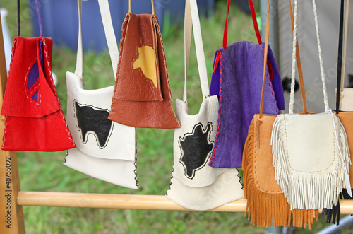 Colorful Hand Made Native American Pouches