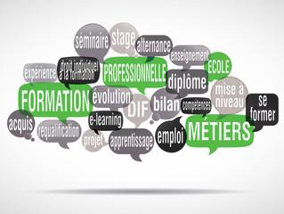 nuage de mots bulles : formation pro
