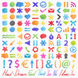 Vector set: hand-drawn symbols. Colorful design elements