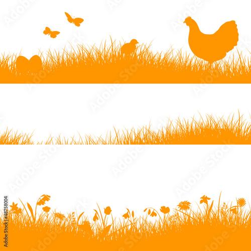 3 Meadow Header Hen Orange