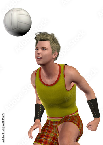 BOY PLAY VOLLEY - 3D