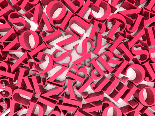 Background of alphabets