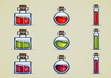bottles of potion