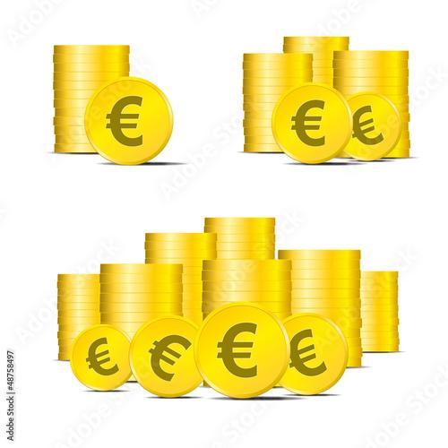 Geldstücke Geld Euro Finanzen € Münzen