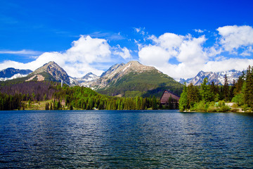 Lake In Mountains Of Slovakia