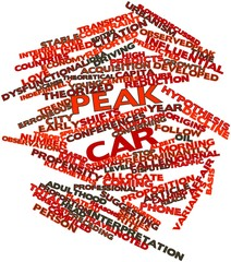 Word cloud for Peak car