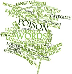 Word cloud for Poison words