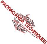 Word cloud for Propaganda techniques poster