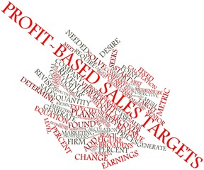 Word cloud for Profit-based sales targets