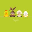 Duck, Bunny, Lamb & Egg