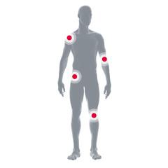 Illustration Mensch mit Gelenkschmerzen