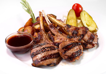 grilled rack of veal