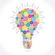 colorful gear bulb