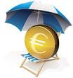 Euro sur sa chaise longue