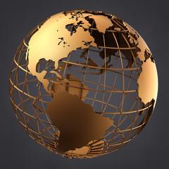 Globe on a Grey Background
