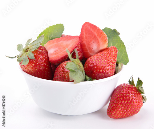 bowl of strawberry