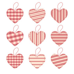Set of valentine's hearts