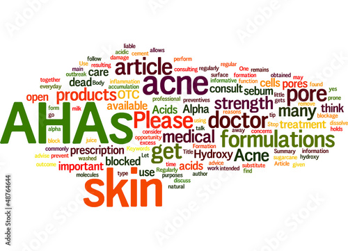 Acne Use AHAs Regularly To Stop Acne Formation Concept