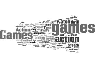 Action Games The Thrill Is Addictive Concept