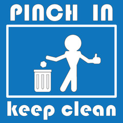 pinch in & keep clean