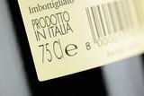 Label of a bottle of italian red wine