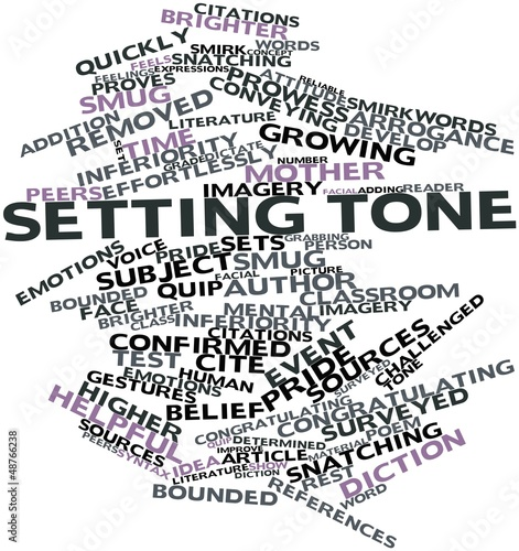 Word cloud for Setting tone