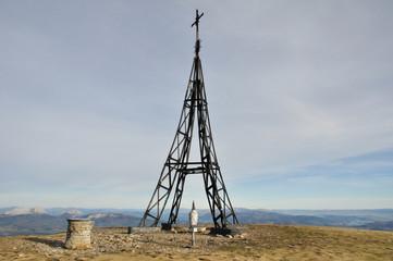 Cross of Gorbea mountain, Basque Country (Spain)