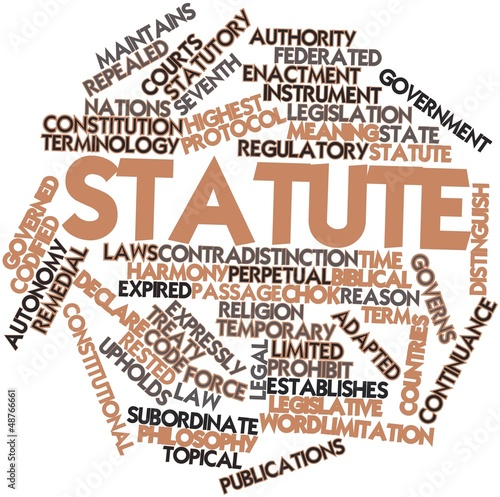Word cloud for Statute