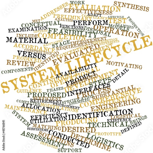 Word cloud for System lifecycle