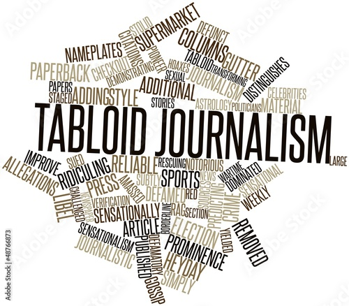 Word cloud for Tabloid journalism