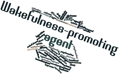 Word cloud for Wakefulness-promoting agent