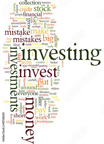 Investing Mistakes to Avoid Concept