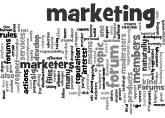 Using Forums in Viral Marketing Concept