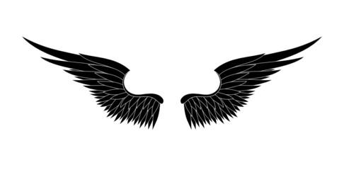black wings vector