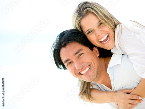 Beautiful couple looking happy