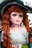 Portrait of a red-haired doll