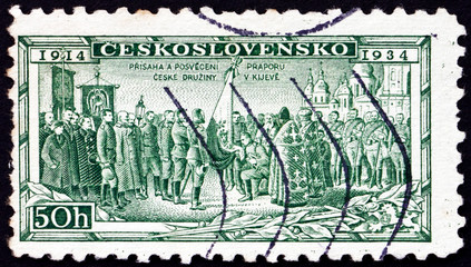 Postage stamp Czechoslovakia 1934 Consecration of Legion Colors