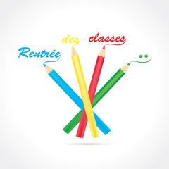rentrée des classes-crayons