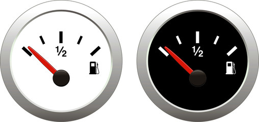 Fuel indicator Illustration on white background
