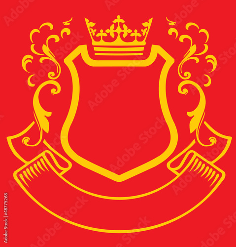 Coat of arms with crown