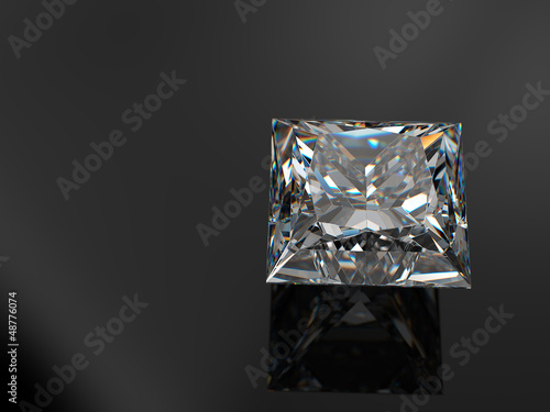 Princess_diamond_on_black_background